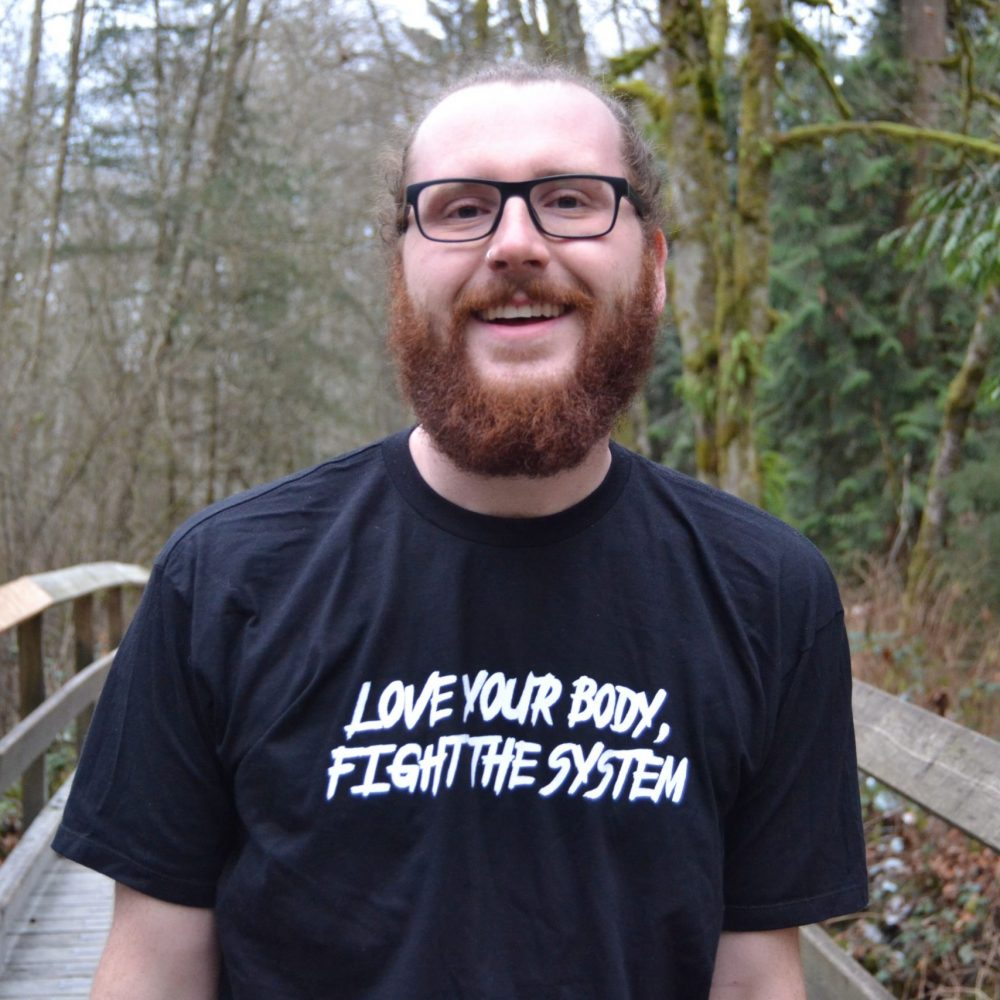 Love Your Body, Fight the System T-Shirt – Black - Pic #1