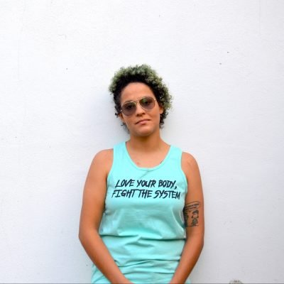 Love Your Body, Fight the System Tank (Celadon) - Pic #1