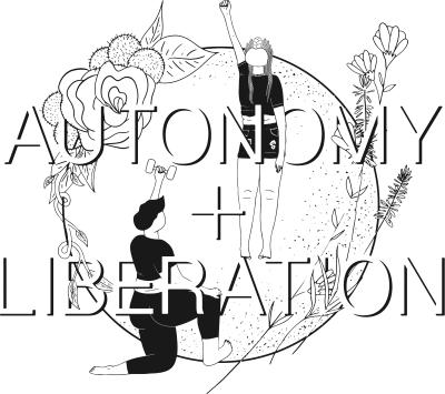 Autonomy + Liberation Sticker